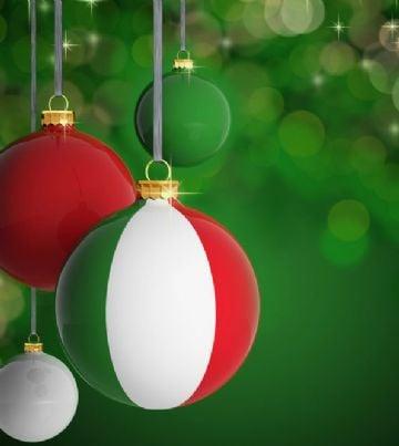 pallina di Natale con bandiera italiana