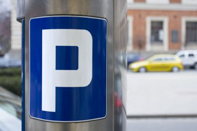 un parchimetro per parcheggio a pagamento