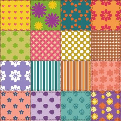 pezze di stoffa patchwork