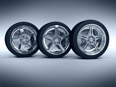 pneumatici con cerchi in lega