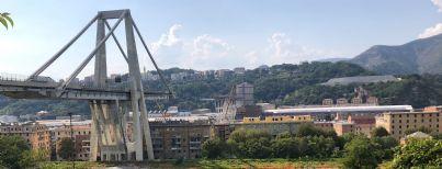 ponte Morandi a Genova dopo crollo