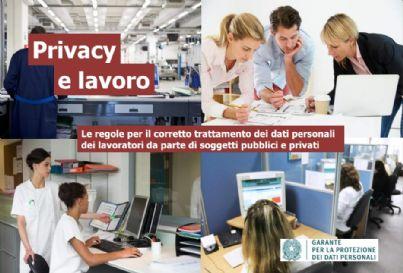 Immagine di copertina del vademecum privacy e lavoro del Garante