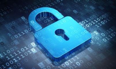 Lucchetto su un asequenza di dati che esprime il concetto di privacy