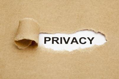 parola privacy su un foglio