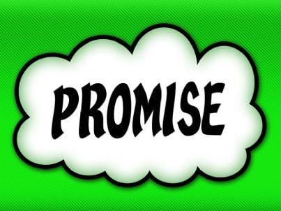 parola promessa di pagamento o matrimonio su sfondo verde