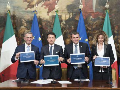 Conte e governo presentano Proteggi Italia