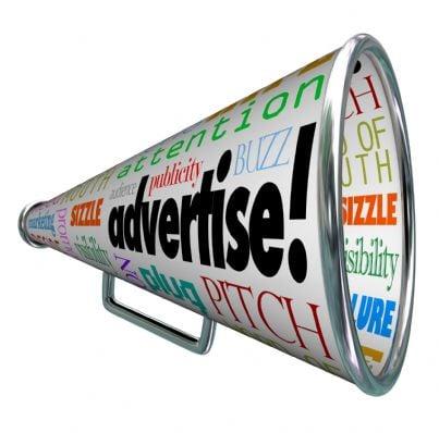 megafono che ricorda concetto di advertising