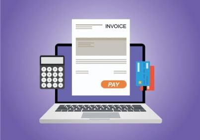 quietanza pagamento stampata al computer
