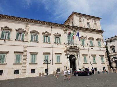 palazzo del Quirinale sede  del capo dello Stato italiano