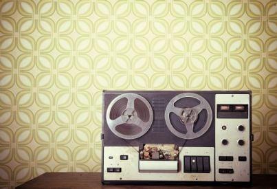 registratore retro utilizzato per intercettazioni