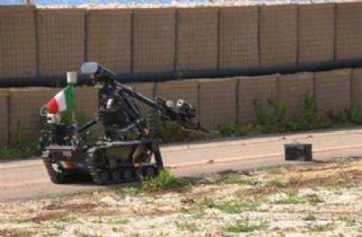 robot disinnesca bomba militare