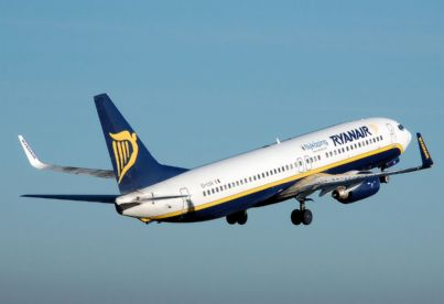 boing Ryanair che decolla