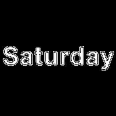 parola sabato scritta su sfondo nero