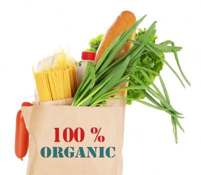 sacchetto spesa di materiale organico