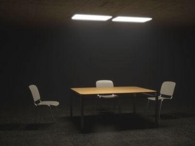 sala di un interrogatorio