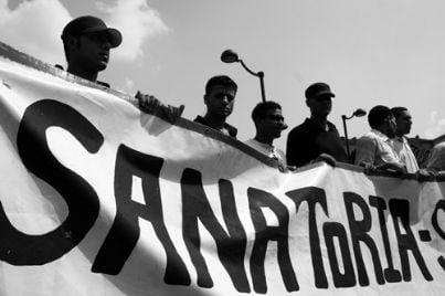 la parola sanatoria scritta su un cartellone