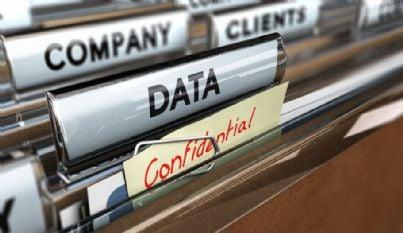 scheda aziendale e dati in sicurezza