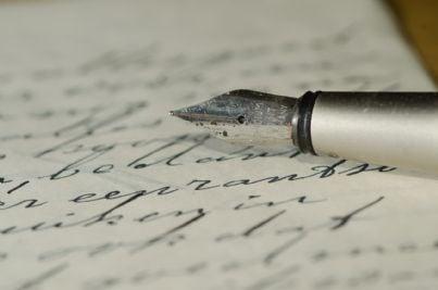 Lettera scritta con una penna stilografica