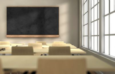 aula vuota in una scuola