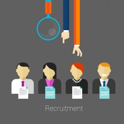 reclutamento del personale per un lavoro