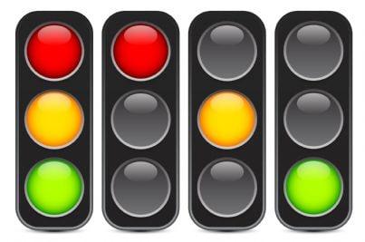 semafori di vari colori