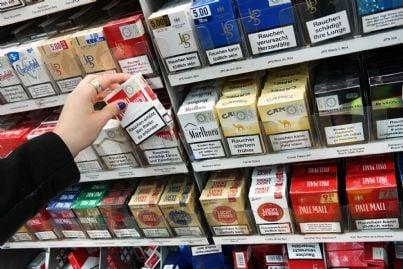 vendita di sigarette tabacchino