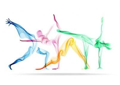 silhouette di donne che fanno yoga