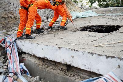 soccorso durante un terremoto in Italia