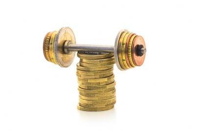 soldi in euro con peso