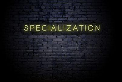 muro con parola specializzazione