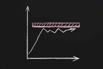 grafico che indica stagnazione in economia
