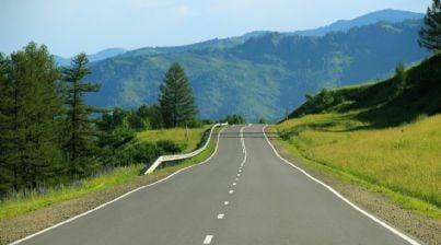 Strada in curva