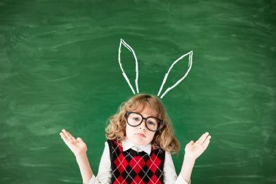 studente con orecchie di asino
