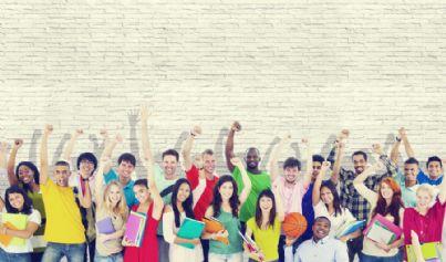 gruppo di studenti universitari