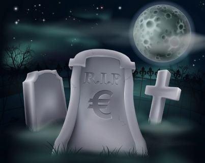 simbolo soldi su tombe cimitero concetto tassa funeraria