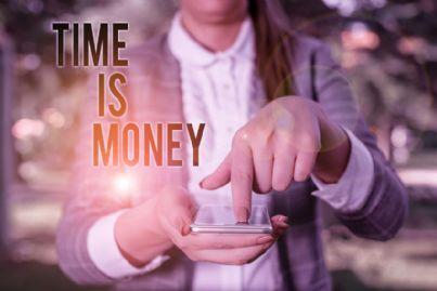telefono con frase tempo è denaro concetto di ritardo
