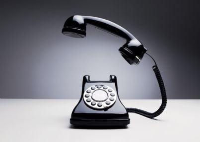 un telefono in stile retro