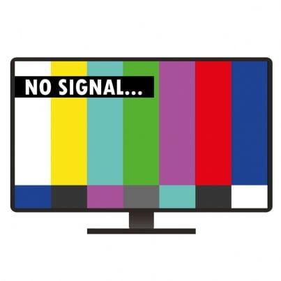 televisore che mostra nessun segnale