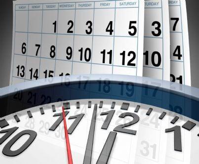 orologio e calendario simboli del tempo che scorre