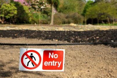 vietato accesso a terreno