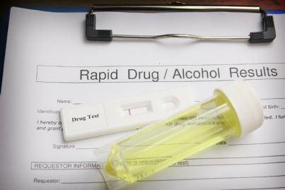 test antidroga e alcool