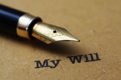 penna per scrivere il proprio testamento