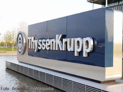 Scritta della Thyssenkrupp