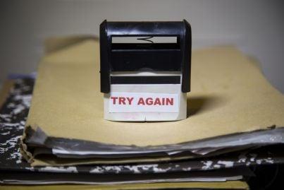 timbro di errore documenti o certificati