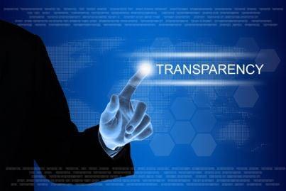 concetto di trasparenza su internet