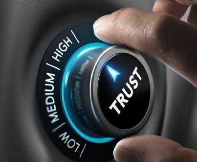 bottone per regolare il trust