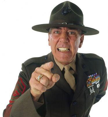 un militare arrabbiato
