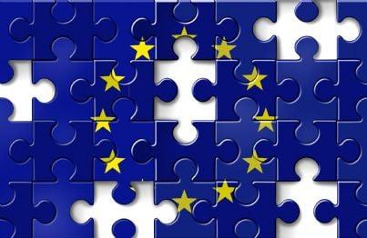 puzzle con bandiera unione europea