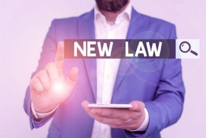 avvocato che controlla nuova legge al telefono