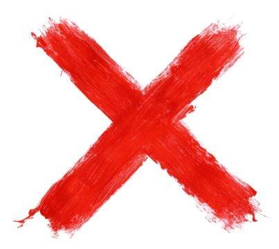 croce simbolo di divieto